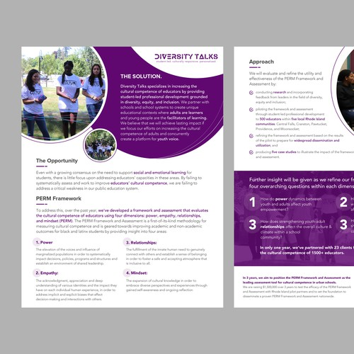 One-pager design for Diversity Talks