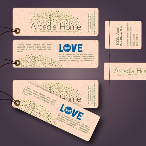 Create beautiful product labels for an artisan made home accessories line