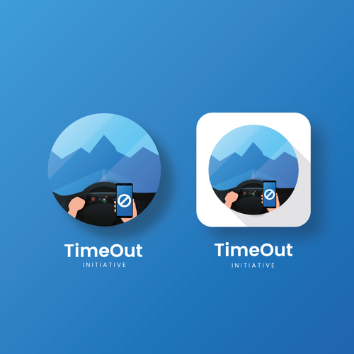 Icon design for app called TimeOut Initiative