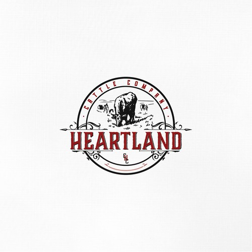 Logo for a cattle and local beef company.