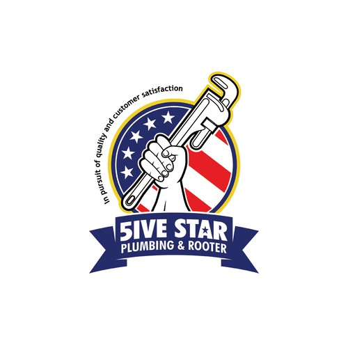 Five star plumber needs a five star logo