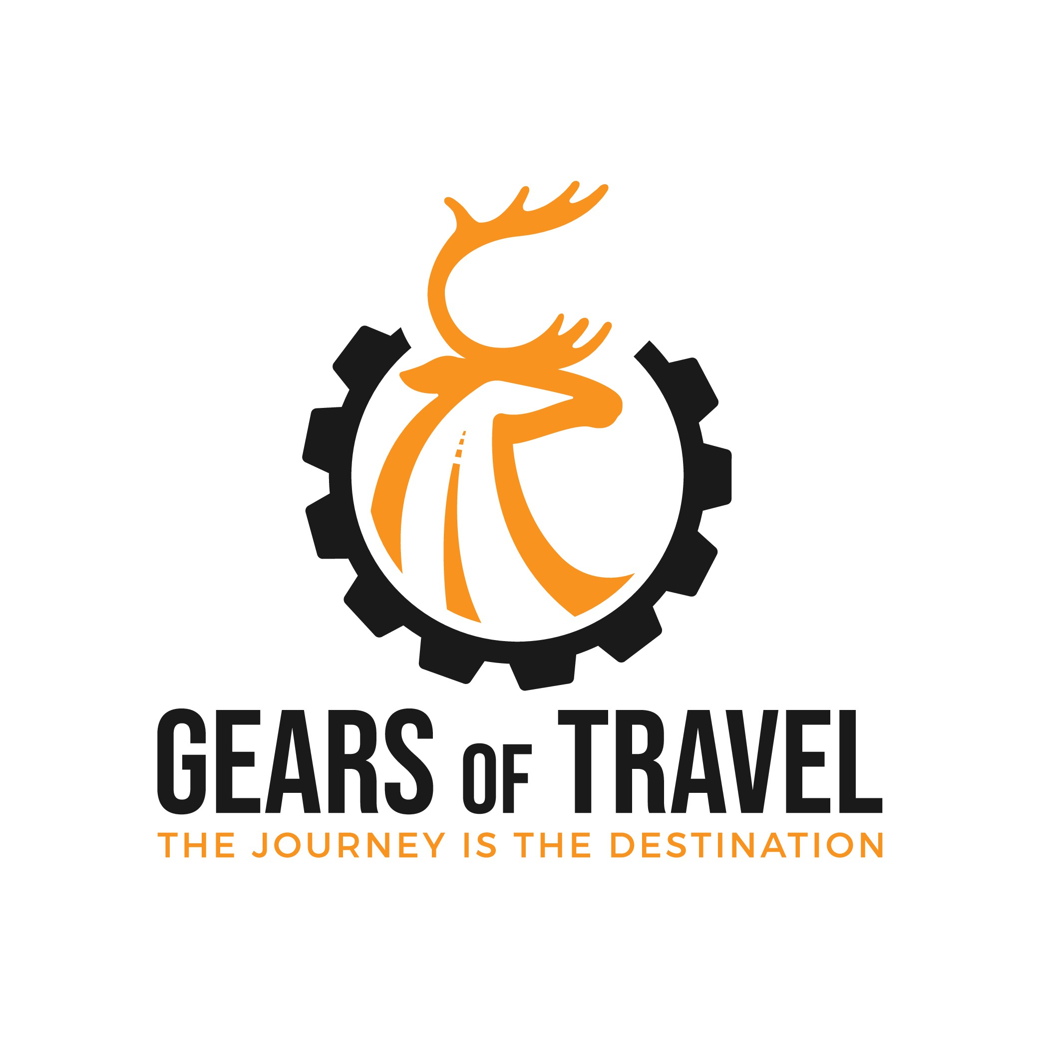 Design a sleek and adventurous eye-catching logo for Gears of Travel