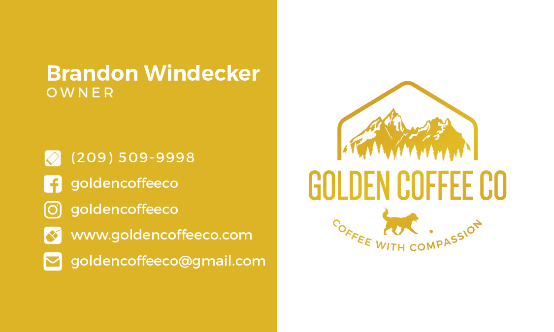 Golden Coffee Co Business Cards