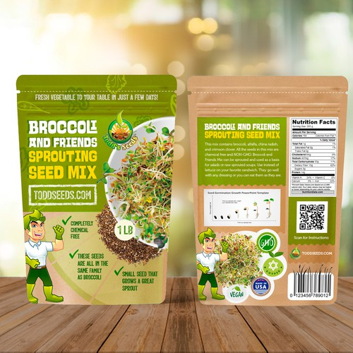 Seed mix package design