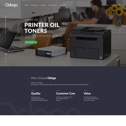 Modern Home Page Design
