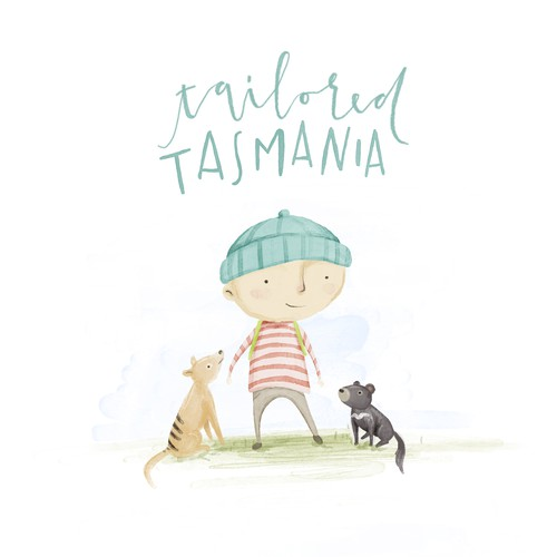 "Illustration for a book called ""tailored tasmania"""
