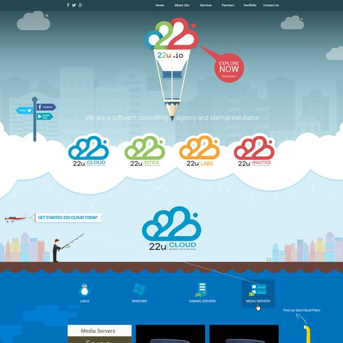 Parallax Scrolling Website