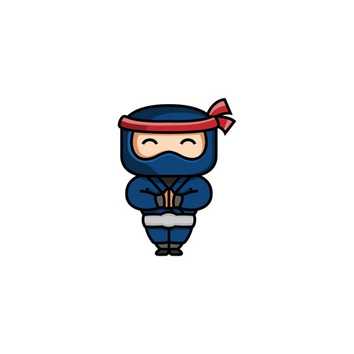 Logo concept for adorable Ninja.