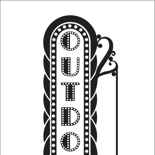 Simple Black and White Clip Art Graphic