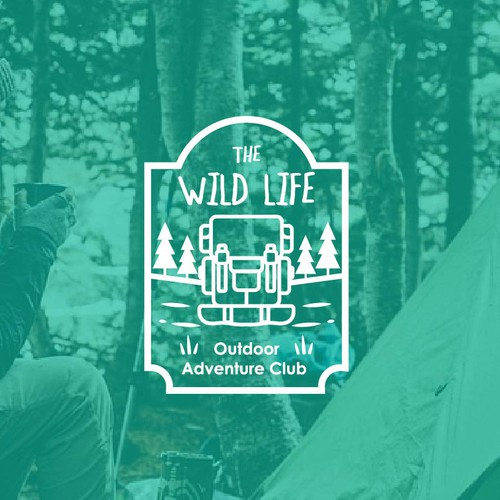Badge logo for outdoor club