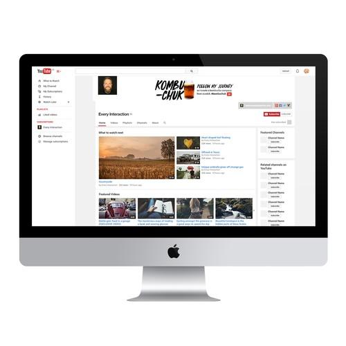 Youtube header for Vlogger