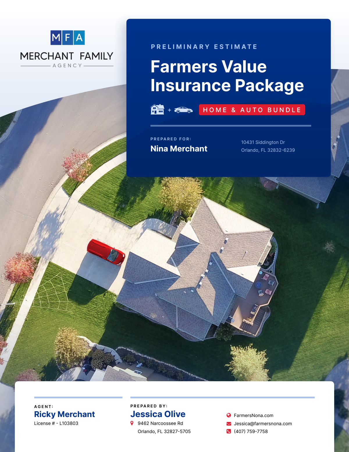 Farmers Insurance Quote Package in Word and PDF Formats