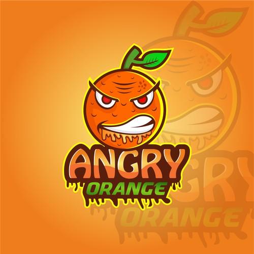 Angry Orange Head Shop logo and brand identity