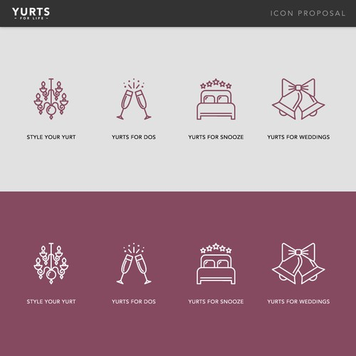Icon set for Yurts