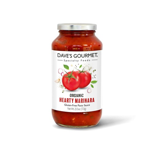 Label design for a gourmet pasta sauce