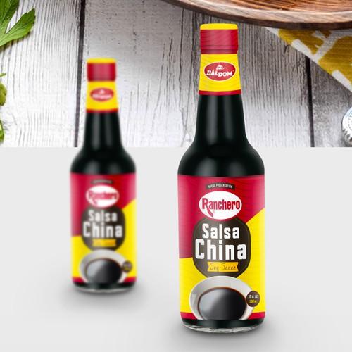 Diseño de etiqueta - Salsa China