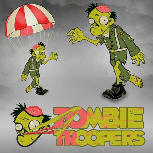 Illustration for Zombie Parashooters Game
