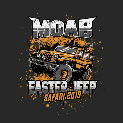 Moab Easter Jeep Safari 2019 Illustration T-Shirt Design