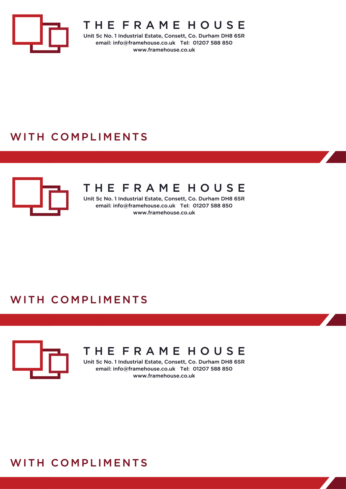 Update to Business card