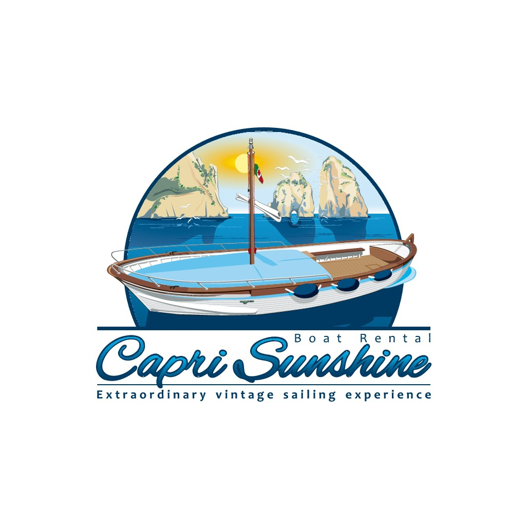 Create the new logo for a beautiful classic wood boat used to drive lot of tourists around the wonderful Capri island