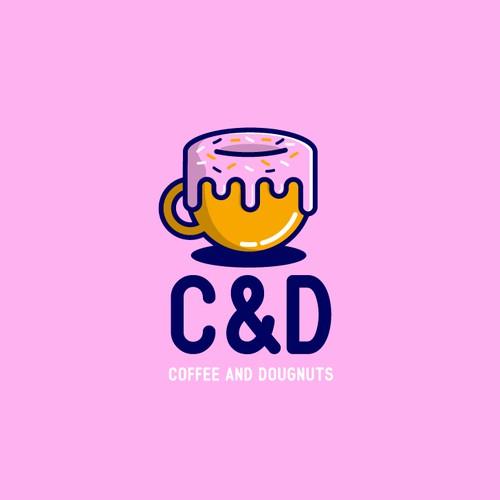 Logo Concept for Coffee and Doughnut shop