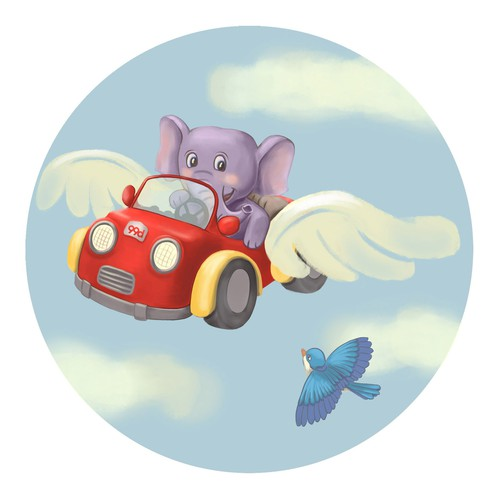 Sticker illustration for kids