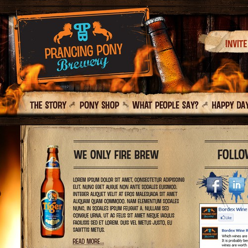 Website design for prancingponybrewery.com.au