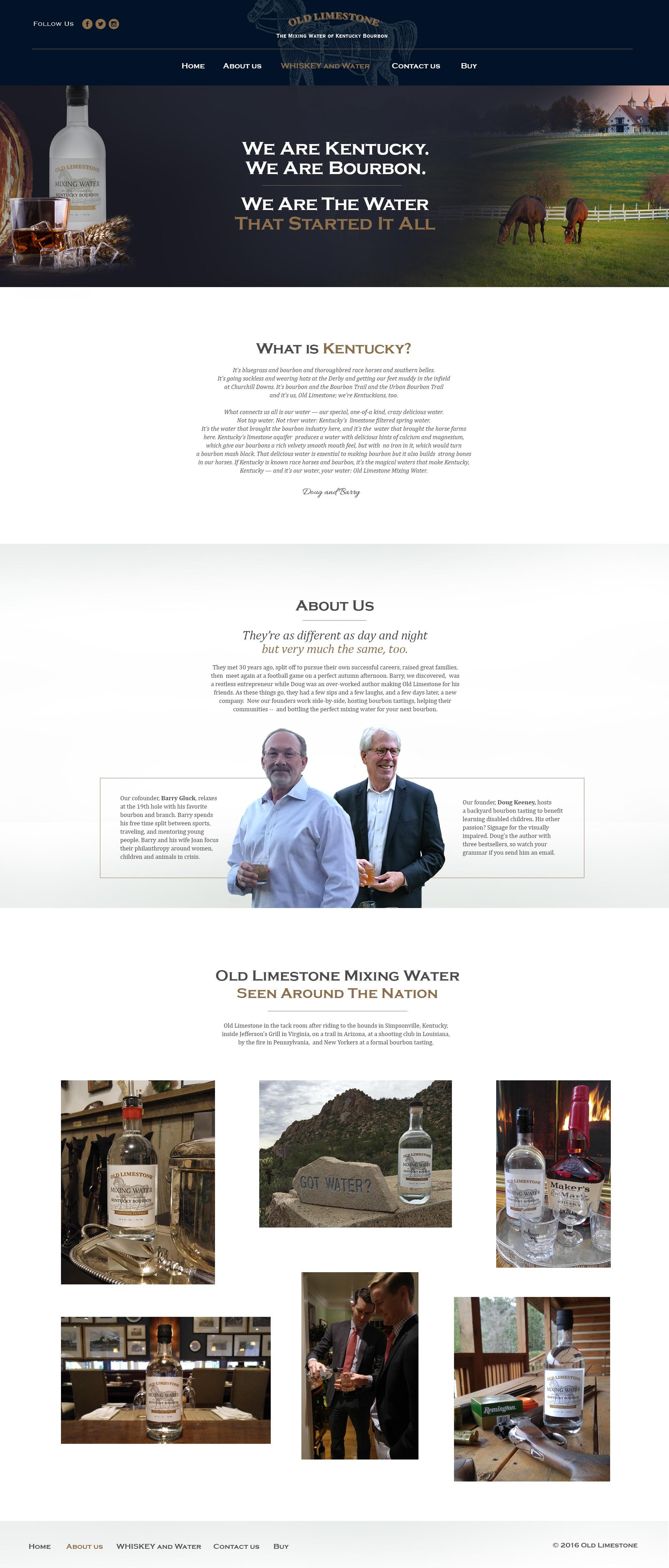 Old Limestone Bourbon Water. Upgrade our high profile, minimalist web site