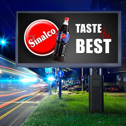 the best signage design for Sinalco