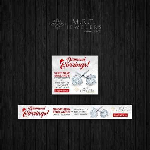 Diamond Earring Ad with Winter Ice Theme