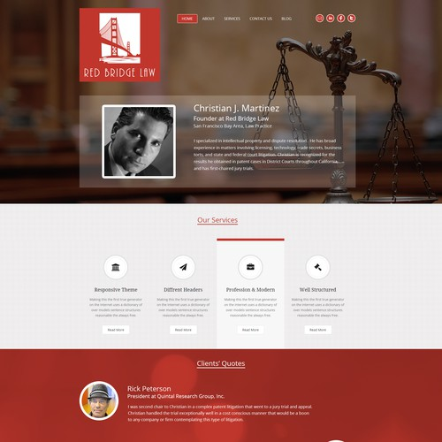 Law firm website that is not a typical, template-based, boring law firm website