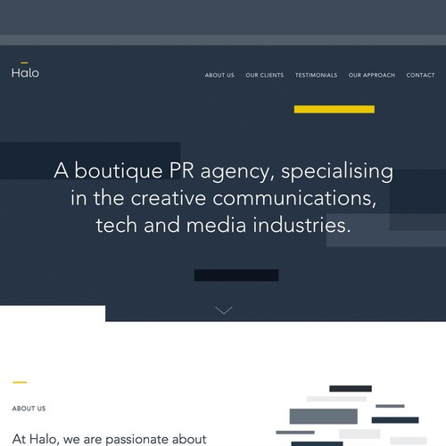 Branding & website for a growing public relations agency