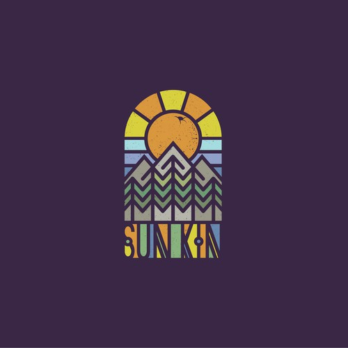 Colourful Logo for Californian Band Sun Kin