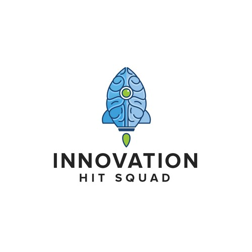 Innovation Hit Squad logo design for a experienced creative technology company.