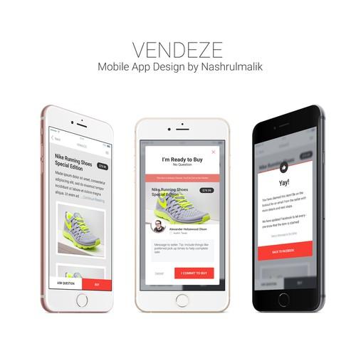 E-commence App for Vendeze