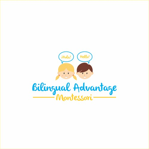 Logo design for Bilingual Advantage Montessori
