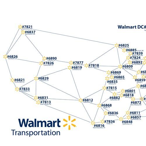 walmart DC#'s map