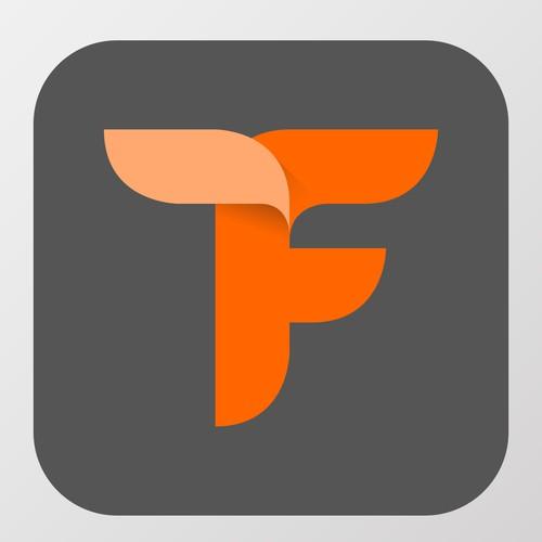 Beautiful F Icon for a fashion app