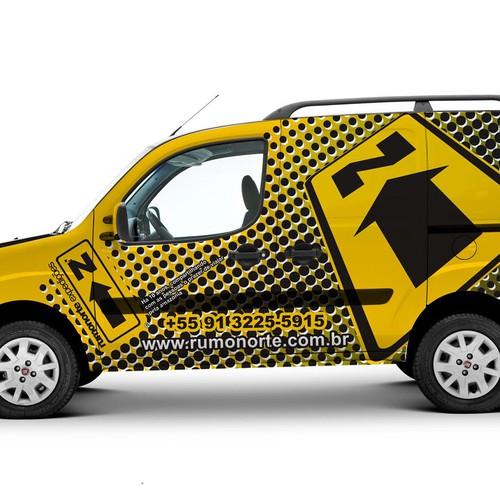 Vehicle wraps design for Rumo Norte Expedicoes