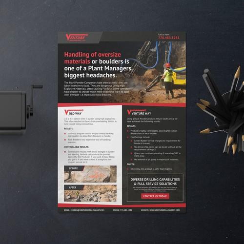Professional flyer design for Venture Drilling East, LLC.