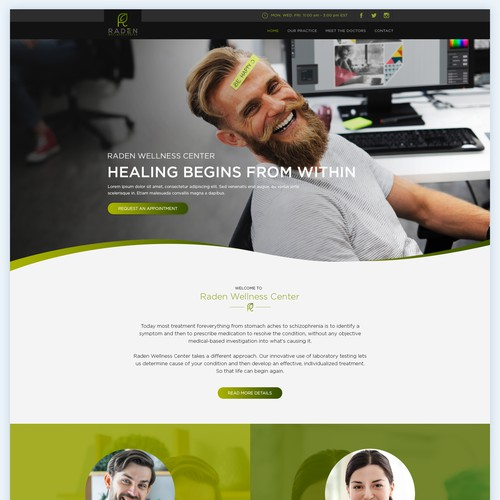 Website design for an Innovative Medical Practice.