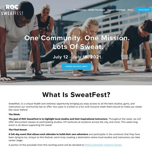 Roc Fitness Modern Design Website