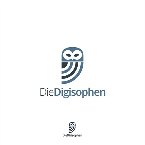 Logo That Combines Digitization (digital communication) and Philosophy.