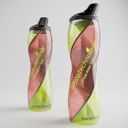 Innovative Natural and Organic Inspired Two Sided Bottle