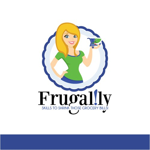Need a logo depicting Frugal Lee, the Fun & Frugalific Founder of Frugal.ly