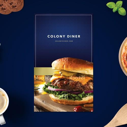 High end diner menu design
