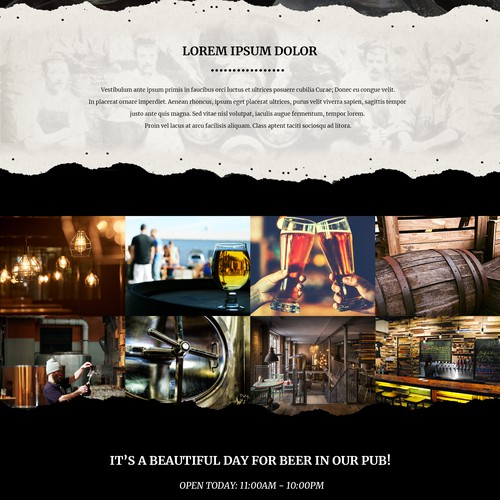 Website concept for brewery