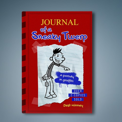 Irreverent E-Bbook Cover For A Diary of a Wimpy Kid Parody Novel