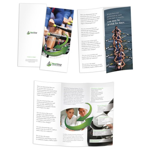 Create the next brochure design for NextStep Technology Solutions, LLC
