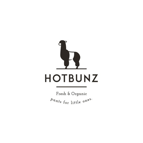 Logo for HOTBUNZ - fresh, organic pants for little ones!